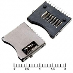 micro-SD SMD 10pin switch M